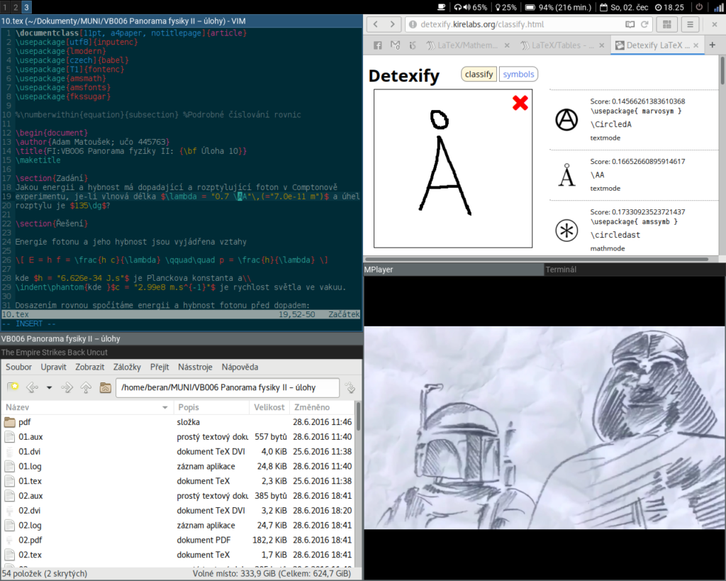 Snímek obrazovky mého i3 desktopu